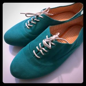 Aldo Turquoise Cloth Loafers